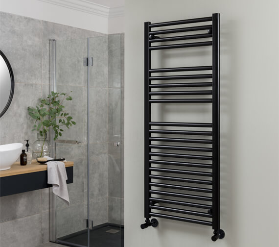 Vogue Focus 300 x 1200mm Mildsteel Straight Towel Rail