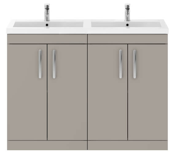 Additional image of Nuie Premier Athena 1200mm Floor Standing Cabinet With Double Basin