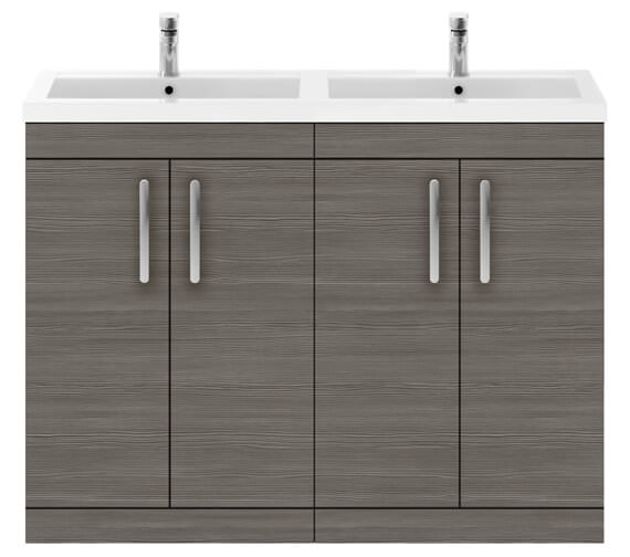 Alternate image of Nuie Premier Athena 1200mm Floor Standing Cabinet With Double Basin