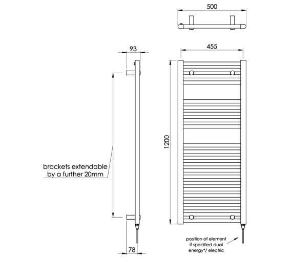 Technical drawing QS-V88509 / MD001 MS1200500ZBL