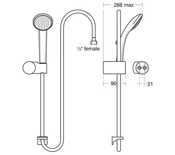 Technical drawing QS-V96121 / B9449AA