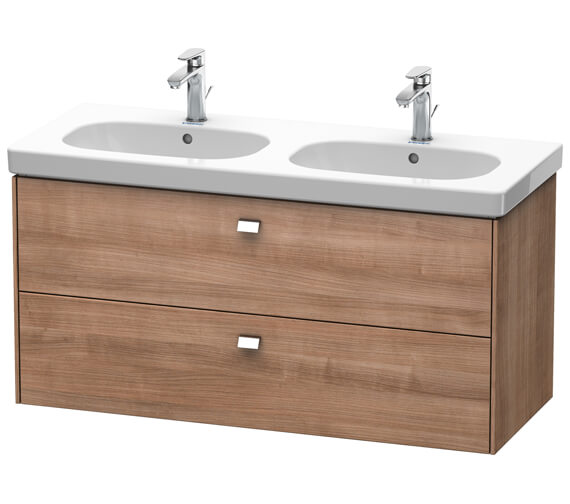 Alternate image of Duravit Brioso Wall Mounted 1170mm 2 Drawer Vanity Unit For D-Code Basin