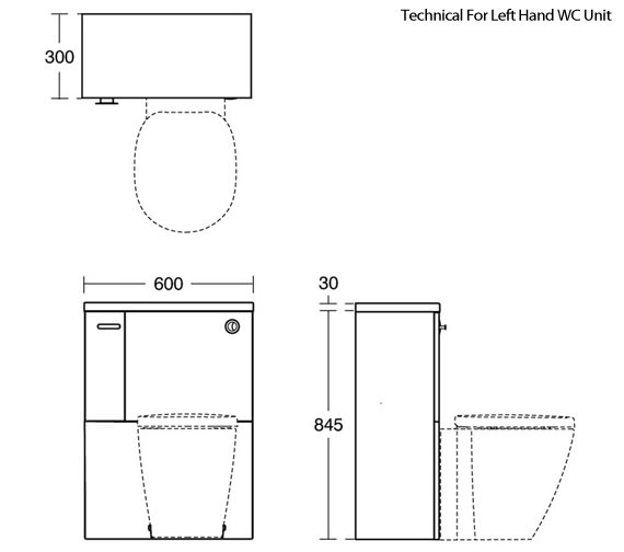 Technical drawing QS-V89414 / E1436WG