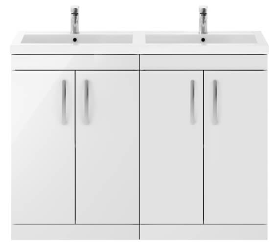 Nuie Premier Athena 1200mm Floor Standing Cabinet With Double Basin