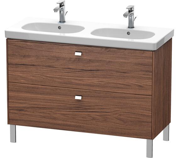 Alternate image of Duravit Brioso Floor Standing 1170mm 2 Drawer Vanity Unit For D-Code Basin