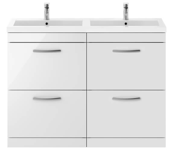Premier Athena 1200mm Floor Standing 4 Drawer Cabinet With Double Basin