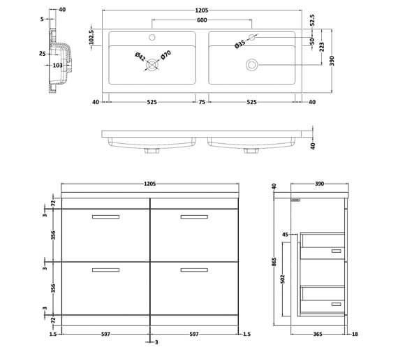 Technical drawing QS-V42488 / ATH032C