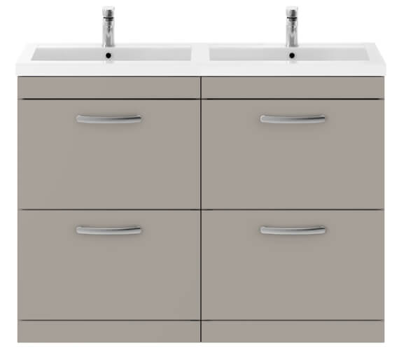 Additional image of Nuie Premier Athena 1200mm Floor Standing 4 Drawer Cabinet With Double Basin