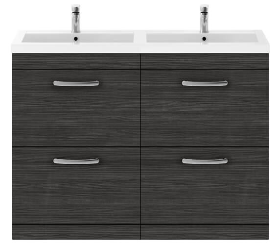 Alternate image of Nuie Premier Athena 1200mm Floor Standing 4 Drawer Cabinet With Double Basin