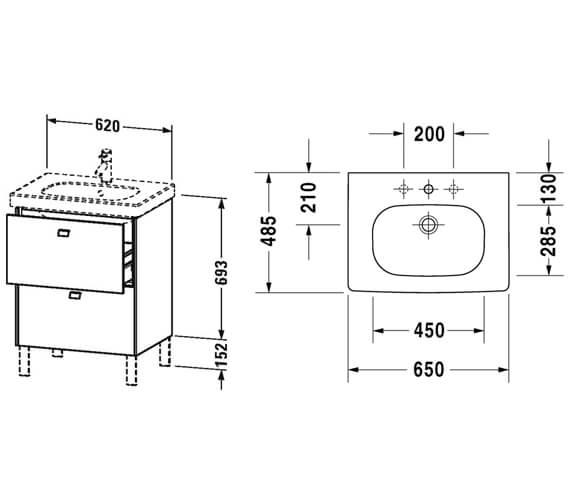 Technical drawing QS-V95803 / BR442501818