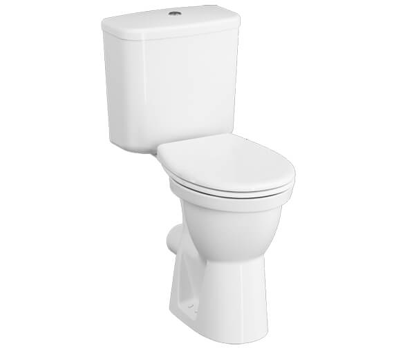VitrA Milton 645mm Comfort Height Close-Coupled WC Pan With Seat