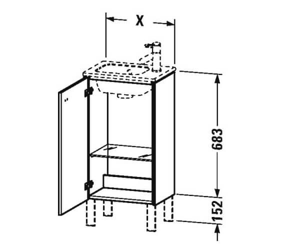 Technical drawing QS-V95805 / BR4400L1818