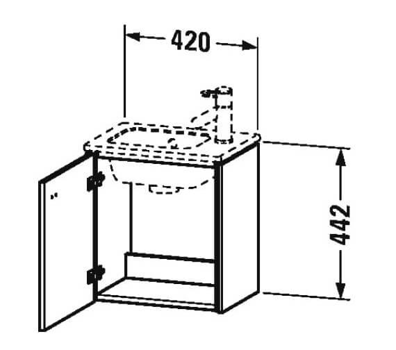 Technical drawing QS-V95804 / BR4000L1818