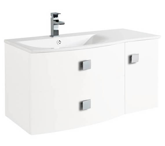 Hudson Reed Sarenna 1000 x 500mm 2 Door And 1 Drawer Cabinet And Basin