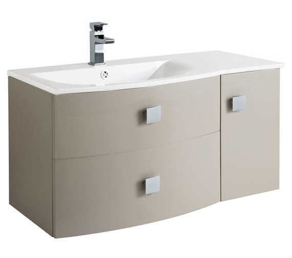 Additional image of Hudson Reed Sarenna 1000 x 500mm 2 Door And 1 Drawer Cabinet And Basin