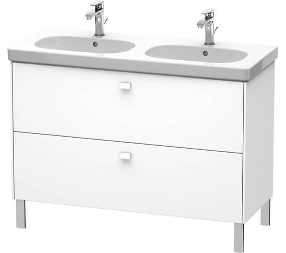 Duravit Brioso Floor Standing 1170mm 2 Drawer Vanity Unit For D-Code Basin