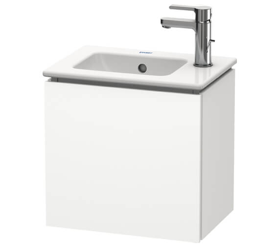 Duravit L-Cube 420mm Wall Mounted 1 Door Vanity Unit For Me By Starck Basin