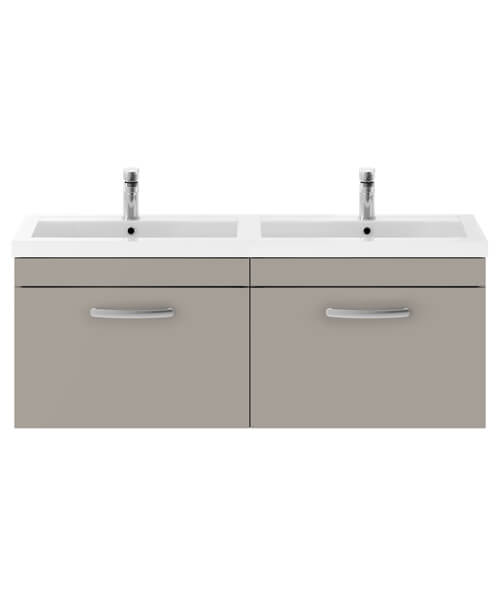 Additional image of Premier Athena 1200mm Wall Hung 2 Drawer Cabinet With Double Basin