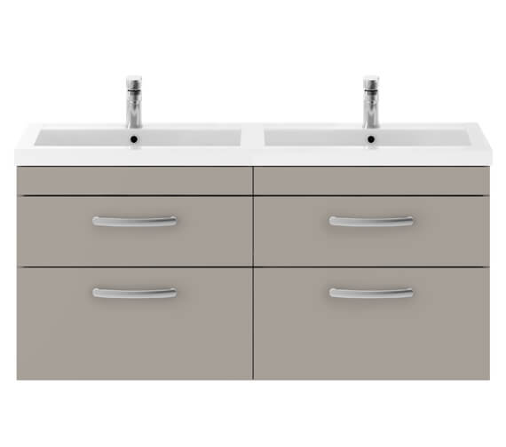 Additional image of Premier Athena 1200mm Wall Hung 4 Drawer Cabinet With Double Basin