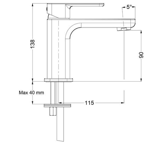 Technical drawing QS-V15673 / AT110DNC