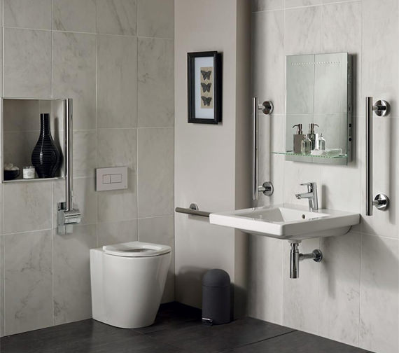 Ideal Standard Concept Freedom Ensuite Bathroom Pack With Basin And Back To Wall WC