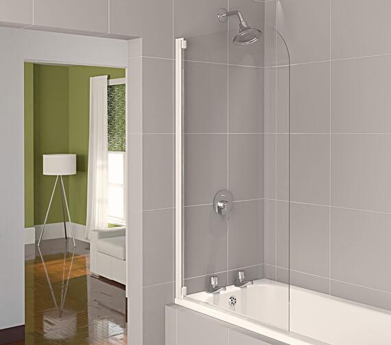 Aqualux Aqua 4 Radius Half Frame 800mm Bath Screen