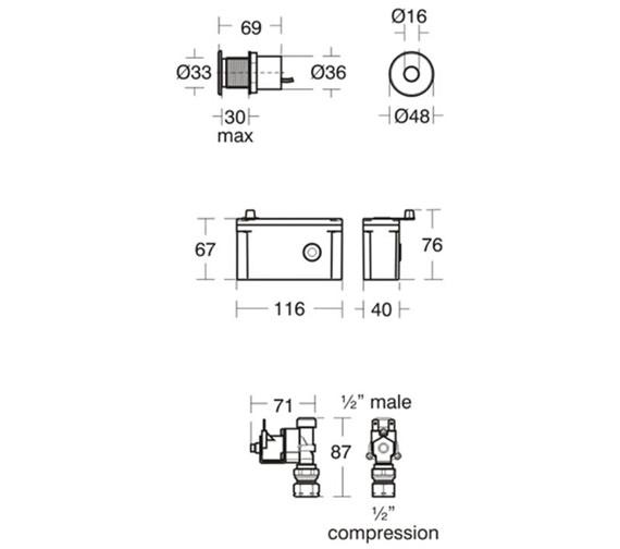 Technical drawing QS-V89416 / A7001AA