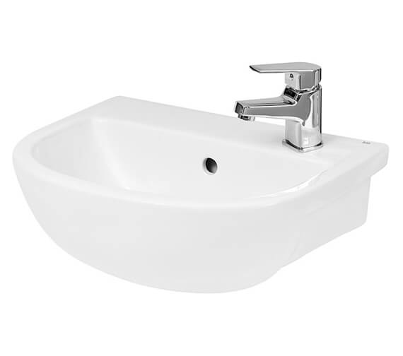 Hudson Reed Oculus 400 x 325mm Curved Compact Semi Recessed Basin