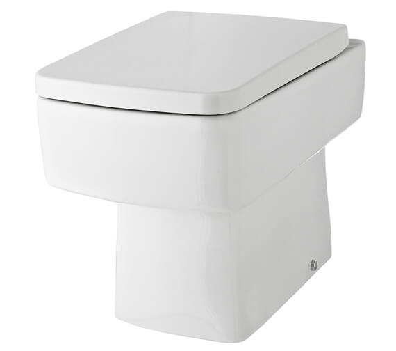 Hudson Reed Bliss 350 x 520mm Back To Wall Pan With Soft Close Seat