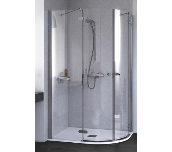 Aqualux ID Match Round 900 x 900mm Quadrant Shower Enclosure