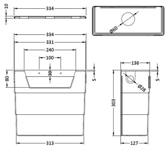Technical drawing QS-V14087 / XTY006