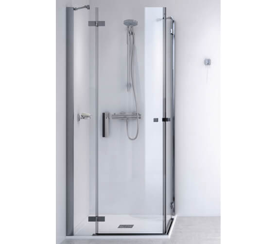 Aqualux ID Match Square 1000 x 1000mm Corner Entry Shower Enclosure