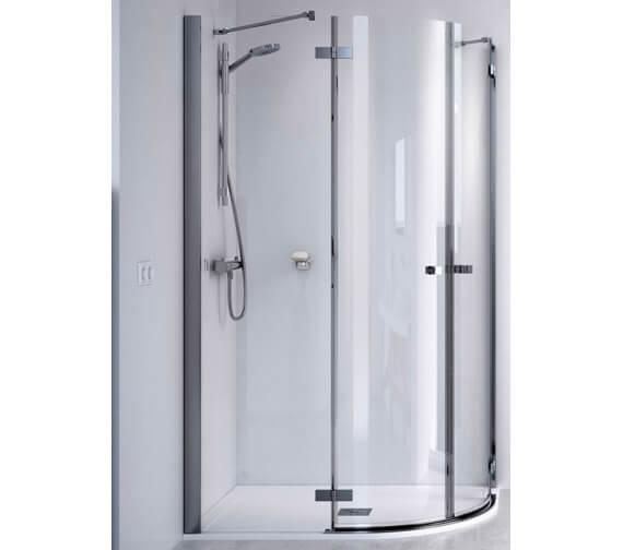 Aqualux ID Match Square 1200 x 800mm Offset Quadrant Shower Enclosure