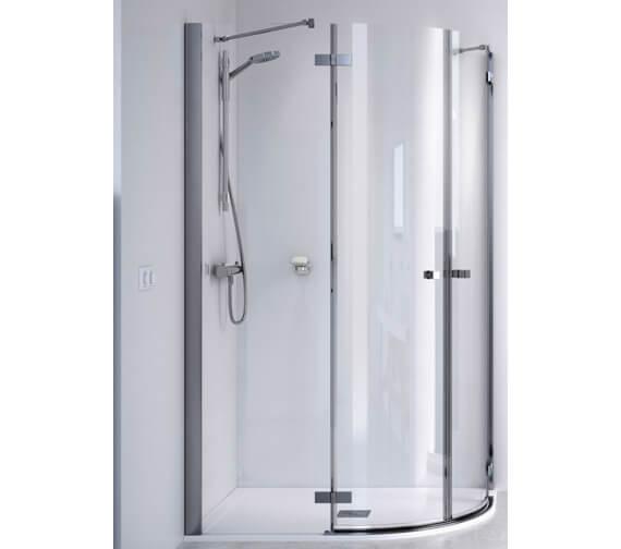 Aqualux ID Match Square 800 x 800mm Quadrant Shower Enclosure