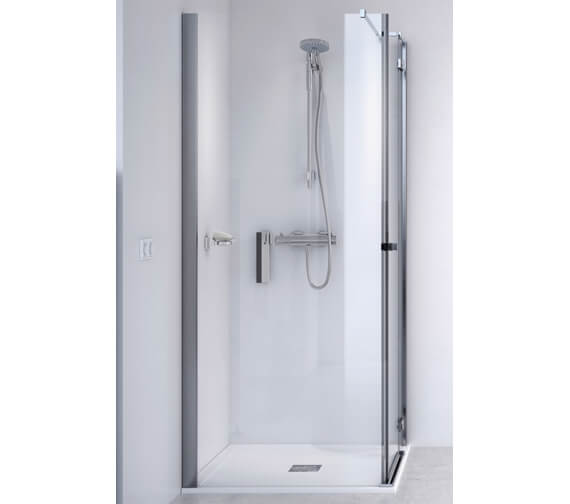 Aqualux ID Match Square 900 x 900mm Hinge Door With Side Panel