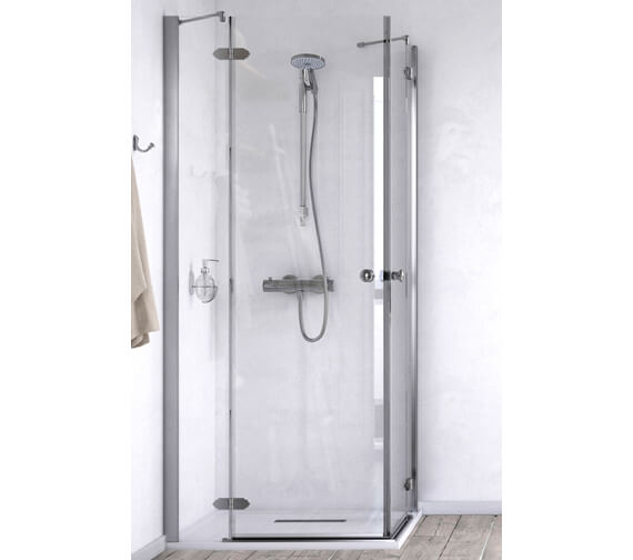 Aqualux ID Match Time 1000 x 1000mm Corner Entry Shower Enclosure
