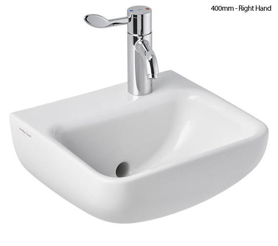 Additional image of Armitage Shanks Contour 21 Plus 1 Taphole Back Outlet Hygenic Washbasin Back Outlet Washbasin