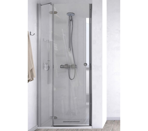 Aqualux ID Match Time 1000mm Recess Hinged Door With Fixed Panel
