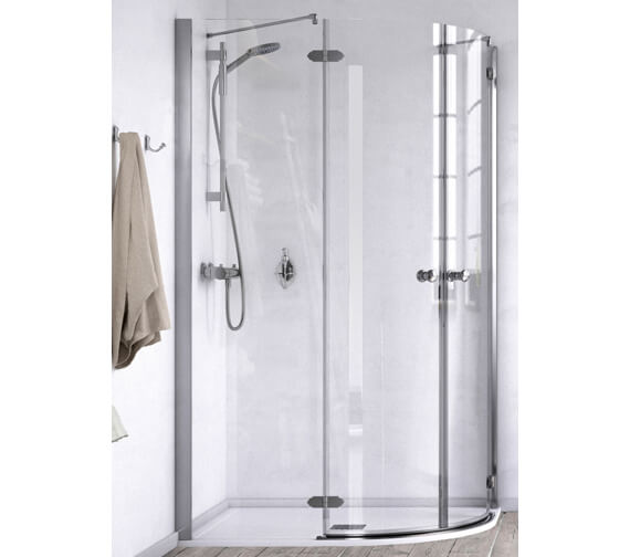 Aqualux ID Match Time 1200 x 800mm Offset Quadrant Shower Enclosure
