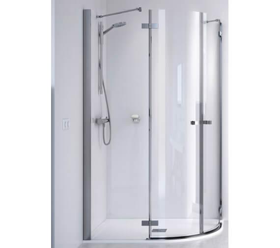 Aqualux ID Match Square 900 x 900mm Quadrant Shower Enclosure