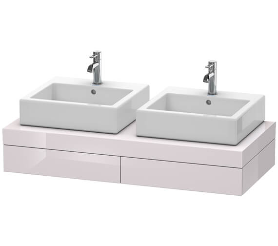 Alternate image of Duravit Fogo 1200 x 550mm White Matt 2 Cut Out Console With 2 Drawer