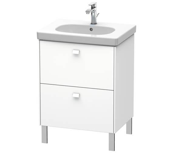 Duravit Brioso Floor Standing 2 Drawer Vanity Unit For D-Code Basin