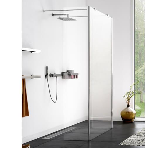 Aqualux Origin 1200mm Walk-In Shower Panel With 2 Splash Panel