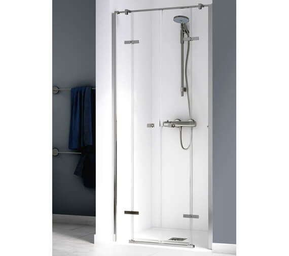 Aqualux Origin 1400mm Recess Saloon Door With 2 Fixed Panels