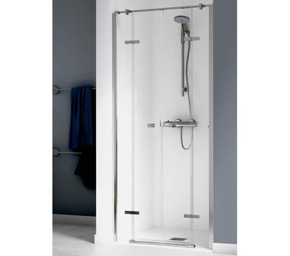 Aqualux Origin 1700mm Recess Saloon Door With 2 Fixed Panels
