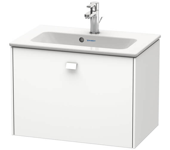 Duravit Brioso Wall Mounted 1 Drawer Compact Vanity Unit For ME by Starck Basin