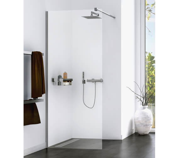 Aqualux Origin 8 2000mm Height Corner Fit Single Walk-In Shower Panel