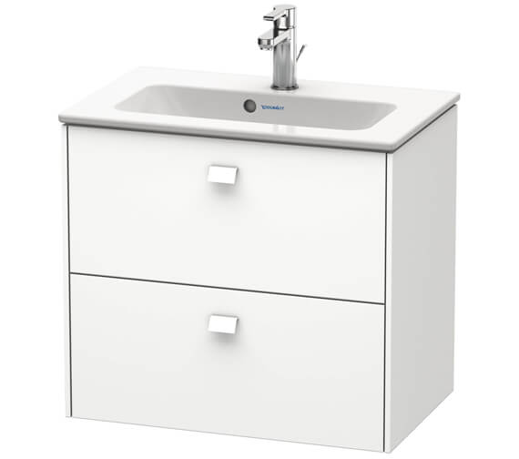 Duravit Brioso Wall Mounted 2 Drawer Compact Vanity Unit For ME by Starck Basin