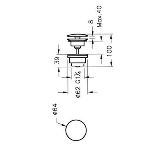 Technical drawing QS-V90855 / A45148EXP