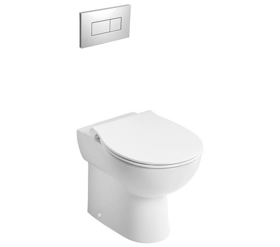 Armitage Shanks Contour 21+ 525mm Back to Wall Rimless WC Pan With Raised Horizontal Outlet